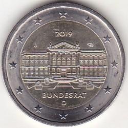 硬币 > 2欧元, 2019 - 德国  (70th Anniversary - Bundesrat) - reverse