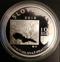 Moneta > 10euro, 2019 - Slovacchia  (100º anniversario - Morte di Milan Rastislav Štefánik) - obverse