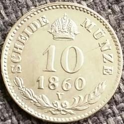 Монета > 10крейцерів, 1858-1865 - Австрія  - reverse