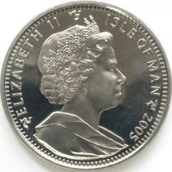 Moneta > 1crown, 2005 - Isola di Man  (200° anniversario battaglia di Trafalgar - Ammiraglio Horatio Nelson) - obverse