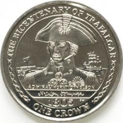 Moneta > 1crown, 2005 - Isola di Man  (200° anniversario battaglia di Trafalgar - Ammiraglio Horatio Nelson) - reverse