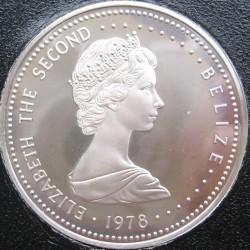 Moneda > 25dólares, 1978 - Belice  (25 Aniversario - Coronación de la Reina Isabel II) - obverse