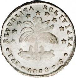 سکه > ½sueldo, 1858-1859 - بولیوی  - obverse