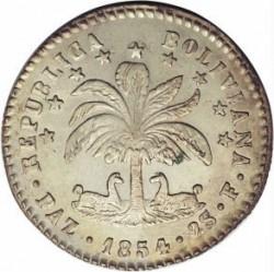 """سکه > 2sueldos, 1854 - بولیوی  (Mintmark """"PAZ"""" - La Paz) - obverse"""