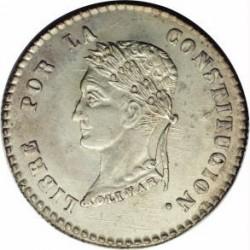 """سکه > 2sueldos, 1854 - بولیوی  (Mintmark """"PAZ"""" - La Paz) - reverse"""