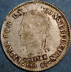 Moneda > 2sueldos, 1859-1863 - Bolívia  - obverse