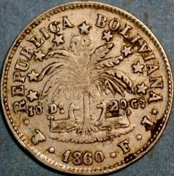 Moneda > 2sueldos, 1859-1863 - Bolívia  - reverse