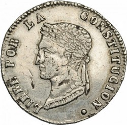 Moneta > 4soliai, 1853-1859 - Bolivija  - obverse