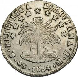 Moneta > 4soliai, 1853-1859 - Bolivija  - reverse