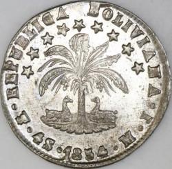 Moneda > 4soles, 1853-1859 - Bolivia  - reverse