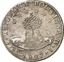 Monēta > 8sueldos, 1827-1840 - Bolīvija  - obverse