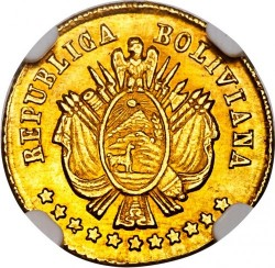 Monēta > 1scudo, 1868 - Bolīvija  - obverse