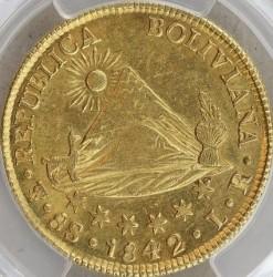 Monēta > 8scudos, 1841-1847 - Bolīvija  - obverse