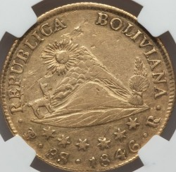 Moneta > 8scudi, 1841-1847 - Bolivia  - reverse