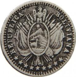 Монета > 1/20боливиано, 1864-1865 - Боливия  - obverse