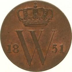 Pièce > ½cent, 1850-1877 - Pays-Bas  - obverse