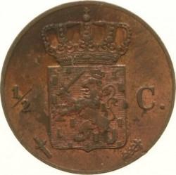Pièce > ½cent, 1850-1877 - Pays-Bas  - reverse