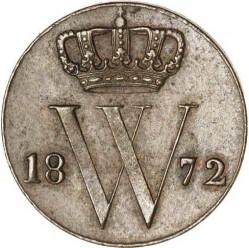 Moneta > ½cent, 1850-1877 - Holandia  - obverse