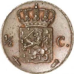 Moneta > ½cent, 1850-1877 - Holandia  - reverse