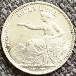 Monēta > ½franks, 1850-1851 - Šveice  - obverse