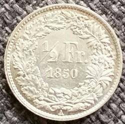 Monēta > ½franks, 1850-1851 - Šveice  - reverse