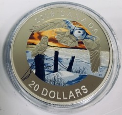 Moneda > 20dólares, 2018 - Canadá  (Buhos blancos) - obverse