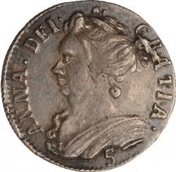 """Moneta > 5scellini, 1705 - Scozia  (Lettering: """"ANNA DEI GRATIA"""") - obverse"""