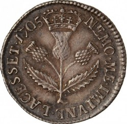 """Moneta > 5scellini, 1705 - Scozia  (Lettering: """"ANNA DEI GRATIA"""") - reverse"""