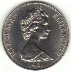 Moneda > 1corona, 1981 - Isla de Man  (Premio Duque de Edimburgo/retrato/) - obverse