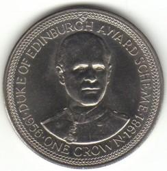 Moneda > 1corona, 1981 - Isla de Man  (Premio Duque de Edimburgo/retrato/) - reverse