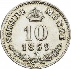 Монета > 10кройцера, 1858-1865 - Австрия  - reverse