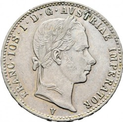 Монета > ¼флорин, 1859-1865 - Австрия  - obverse