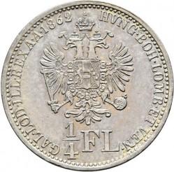 Монета > ¼флорин, 1859-1865 - Австрия  - reverse