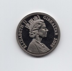 Coin > 1 crown, 2005 - Gibraltar  (60th Anniversary - Yalta Conference) - obverse