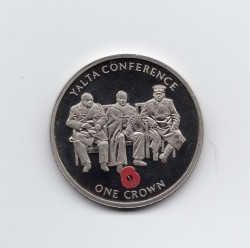 Coin > 1 crown, 2005 - Gibraltar  (60th Anniversary - Yalta Conference) - reverse
