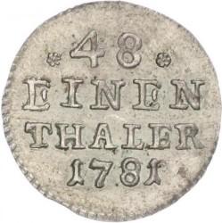 Moneta > 1/48tallero, 1764-1806 - Sassonia  - reverse