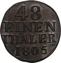 العملة > 1/48تالر, 1764-1806 - سكسوني  - reverse