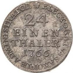 Moneta > 1/24tallero, 1764-1768 - Sassonia  - reverse