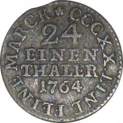 Moneta > 1/24tallero, 1764-1806 - Sassonia  - reverse