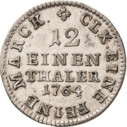 Moneda > 1/12thaler, 1763-1802 - Saxònia  - reverse