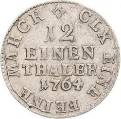 Coin > 1/12thaler, 1763-1802 - Saxony  - reverse