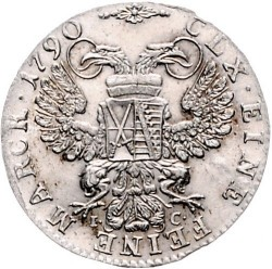 Moneta > 1/12tallero, 1790 - Sassonia  (Vicariato di Federico Augusto III) - reverse
