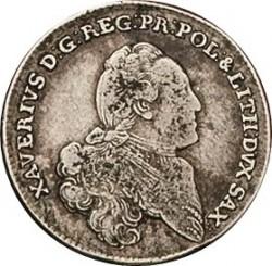 Moneta > ⅓tallero, 1764-1767 - Sassonia  - obverse