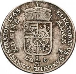 Moneta > ⅓tallero, 1764-1767 - Sassonia  - reverse