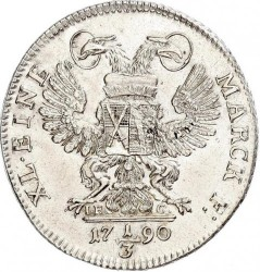 Moneta > ⅓tallero, 1790 - Sassonia  (Vicariato di Federico Augusto III) - reverse