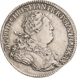 Monēta > ⅔thaler, 1763 - Saksija  - obverse