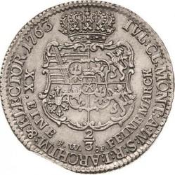 Monēta > ⅔thaler, 1763 - Saksija  - reverse