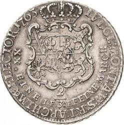 Moneta > ⅔tallero, 1763 - Sassonia  - reverse