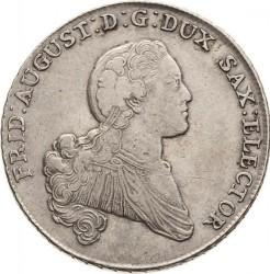 "Moneta > 1tallero, 1768 - Sassonia  (Fed. Augustus III, lettering: ""DER SEEGEN..."") - obverse"
