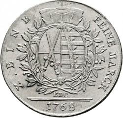 Moneda > 1thaler, 1765-1768 - Saxònia  - reverse
